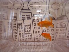 a great kids craft: fish tank artwork: customize your own tank background.