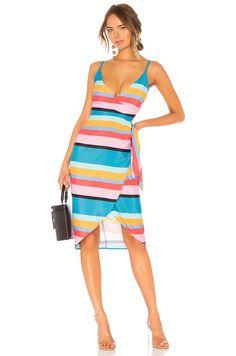 Shop for Lovers + Friends Orchid Dress in April Stripe at REVOLVE. Big Men Fashion, Pop Fashion, Copper Dress, Revolve Clothing, Ladies Dress Design, Dress Outfits, Fashion Dresses, Ideias Fashion, Wrap Dress