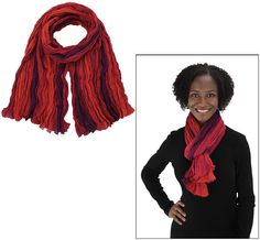 Sunrise Stripe Cotton Scarf at The Veterans Site