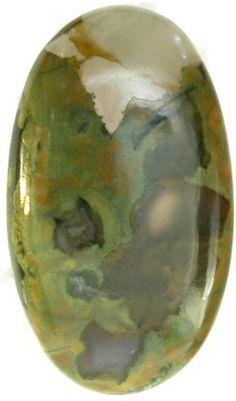 Rhyolite (Rainforest Jasper) BIG 29x50mm Oval Cabochon