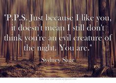 Vampire Academy Quotes   Sydney Sage