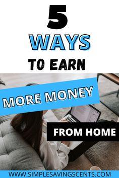 Earn More Money, Ways To Earn Money, Money Saving Tips, Make Side Money, Make Money From Home, How To Make Money, Ways To Save, 5 Ways, Saving For College