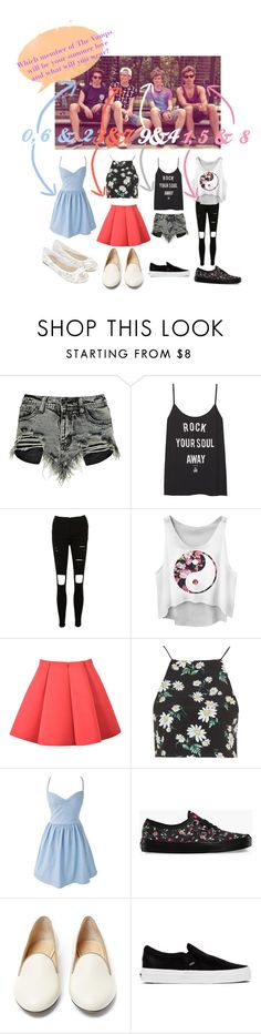 """Like my last"" by the-vamps-outfits ❤ liked on Polyvore featuring Boohoo, Topshop, Vans, Charlotte Olympia and Accessorize"
