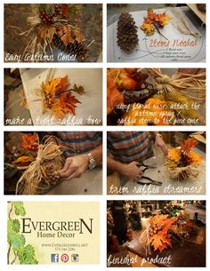 Easy Fall Cones - click on the image for larger images of our tutorial.    Like us on Facebook:  https://www.facebook.com/EvergreenAtTheLake/app_161683100556760