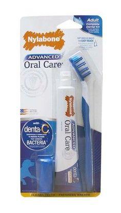 Nylabone Complete Advanced Oral Care Dog Dental Kit Soft Bristles Clean Teeth