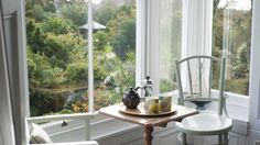 Coffee with views of Morrab Gardens at Myrtle House #penzance #morrabgardens #coffeebreak #views