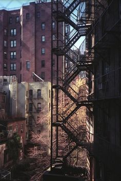 looks like the fire escape in an old apartment I lived in once upon a time in Chicago