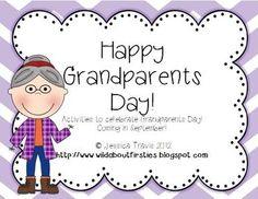 {FREE} Grandparents Day! {Grandparent's Day Activities!}