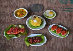 Indian miniature food made using air dry clay