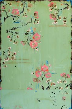 Kathe Fraga That Sweet Moment in the Garden / acrylic on frescoed canvas / 36