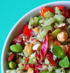 Trailblazer Quinoa Salad.  Thinking about adding this to one of my menus for Jane's Kitchen.