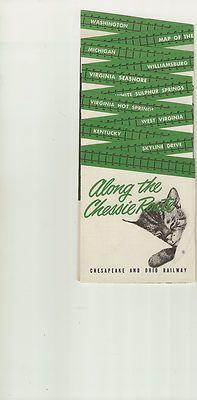 Chesapeake Ohio C O Sight Seeing Flyer 1955 Chessie