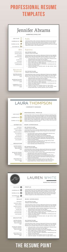 Professional Resume Template Modern Resume Template for Word and - mac pages resume templates