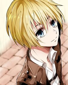 "Up next on ""Armin Looks Like a Host""   'Is that you, Haruhi?  Why are you blonde?'"