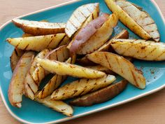 Old Bay Grilled Steak Fries from FoodNetwork.com I will use Canola or Extra Virgin olive oil (and sparingly). I am also going to broil in the oven.