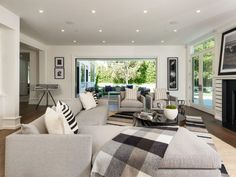 Photos courtesy of David Carlin, White Picket Fence Home Staging Companies, White Picket Fence, Design Firms, Black And White, Interior Design, Luxury, Modern, House, Furniture