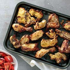 Παϊδάκια κοτόπουλου με μουστάρδα και γιαούρτι