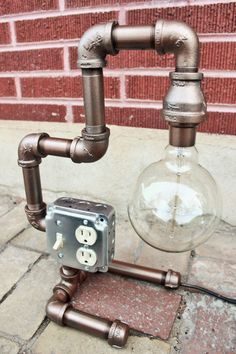 Steampunk Table Lamp Steampunk lighting industrial by HanorManor