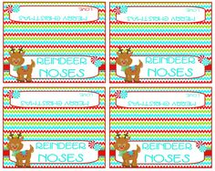 Reindeer Noses bag toppers  These fun little toppers will be adorable on the top of a bag filled with yummy treats like whoppers, sour
