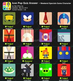 Icon Pop Quiz Answers – Weekend Specials Game Character - iplay.my