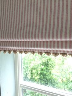 Sweetest stripes for this bespoke roman blind with gorgeous trim! #stripes