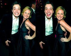 Jimmy Fallon and Amy Poehler Amy Poehler, Jimmy Fallon Justin Timberlake, Famous Celebrities, Celebs, Queens Of Comedy, James Thomas, Hooray For Hollywood, Tina Fey, Celebrity Travel