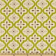 Indoor/outdoor fabric from P Kaufmann (Conservatory Garden print).  Great for the patio!  I think pillows would look great on another print cushion.