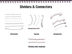 Getting Started With Sketchnoting, dividers and connectors