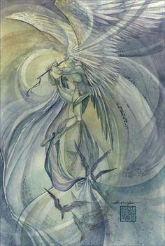 SciFi and Fantasy Art Archangels: Israfel by Stephanie Pui-Mun Law