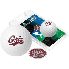Montana Grizzlies - Golf Ball One Pack with Marker