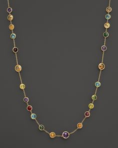Marco Bicego Mini Jaipur Multicolored Gemstone Necklace, 16"