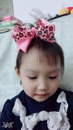 "78ed0e1a18e89 NEW 1PC 5""girl baby pink Hair Bow with crochet headband 475. Kids ..."