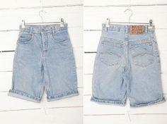 1980's Vintage Light Blue Washed Denim Shorts / by CoverVintage, $25.00