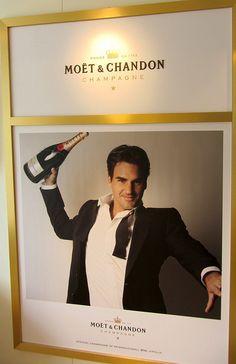 Roger Federer per Moet & Chandon