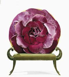 Love the colors of this Carla Tolomeo chair. Unusual Furniture, Funky Furniture, Home Decor Furniture, Furniture Design, Estilo Kitsch, Deco Retro, Wood Painting Art, Decoration Design, Rose Cottage
