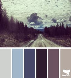 color road #designseeds #blue #brown #colorpalette
