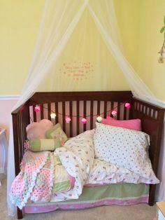 Ashlyn's new bed. So cozy!