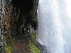 Trail of Ten Falls in Oregon.   Beautiful trail that lets you walk behind waterfalls!  VERY Last of The Mohicans.
