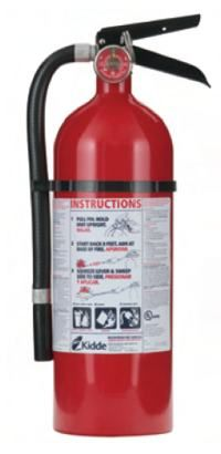 ABC Fire Extinguisher. 2 in house, 1 in each out building, and 1 in each vehicle.  Make sure you have enough!  We keep one in the attic space by the water heater, one in the kitchen & one in the laundry room too.  If SHTF the fire dept. may not come...