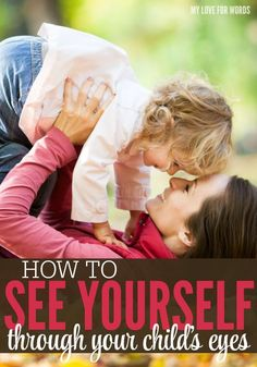 Have you ever wondered how your children see you? This is a great way to see exactly how you look through your child's eyes.