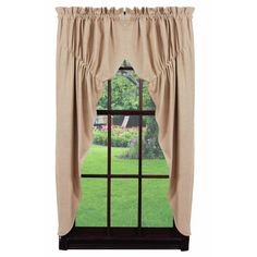 Au Natural Solid Prairie Curtain by Viva Home Decor