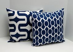 navy blue decorative pillow cover 20 x 20 by home lrdr pinterest blue decorative pillows decorative pillow covers and