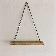 Swing Shelf Reclaimed Wood Shelf Wood and Leather by MakersEyes