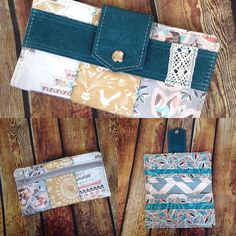 @mitzispretties - Woot! Loving Ashley's custom wallet!! Made with super cute fabrics from #hawthornethreads and teal leather! #madebyme #southdakota #shoplocal #bagobsession #wallet #etsyshop #mitzispretties #lace #loveit #shopsmall #handmade