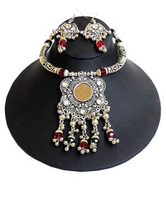 GiftPiper Oxidized Metal Jewellery Set .   Pay COD (Resellers whatsapp 9902488133)-http://www.giftpiper.com/product/oxidized-metal-navratri-jewellery-set-hansuli-necklace