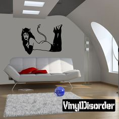 Demon Wall Decal - Vinyl Decal - Car Decal - CF115