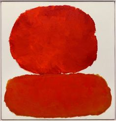 'Ohne Titel' (1959) by American Abstract Expressionist & Color Field painter Raymond Parker (1922-1990). via 時間の心 (Time Heart)