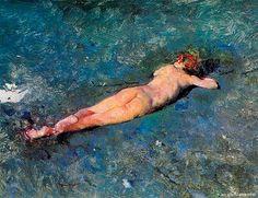Mariano Fortuny - Desnudo en la playa de Portici (1874)