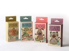 Fetching Pet Food Branding : Fish Bird Dog Cat Packaging
