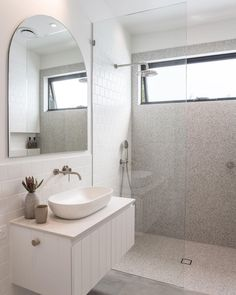 Interior stylist Tim Connah shares tips with Concrete Nation how to create the dream bathroom Concrete Basin, Concrete Bathroom, Upstairs Bathrooms, Master Bathroom, Concrete Interiors, Custom Vanity, Boutique Interior, Interior Stylist, Bathroom Inspiration